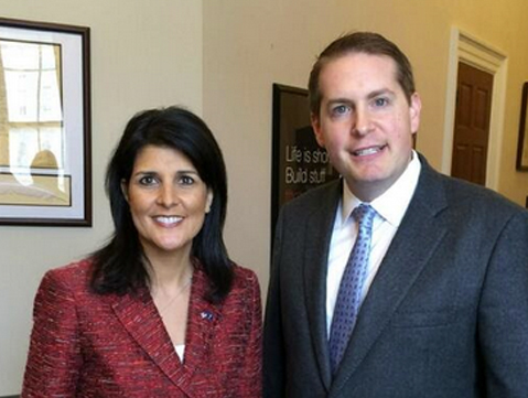 Meeting with former South Carolina Governor Nikki Haley.