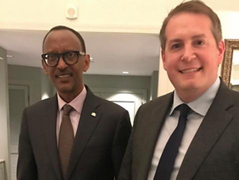 Meeting with Rwandan President Paul Kagame.