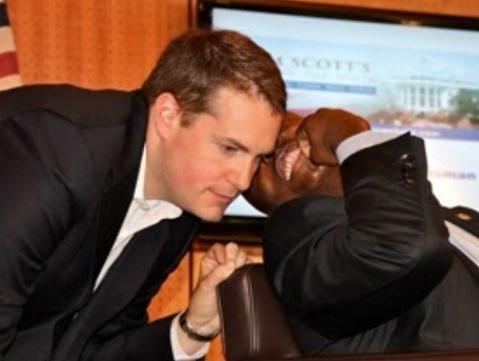 Nick Muzin with Senator Tim Scott (R-SC).