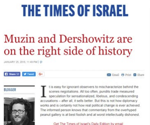 Muzin and Dershowitz are on the right side of history